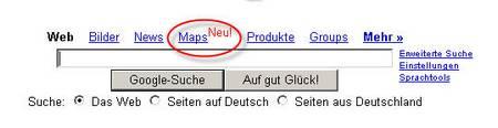 Maps Suche