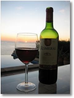 Rotwein und Olivenöl