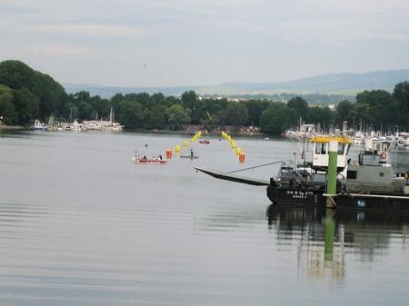 Schwimmstrecke Ironman Wiesbaden vor dem Start