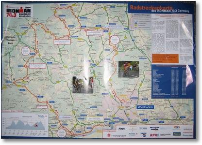 Streckenführung Ironman Wiesbaden