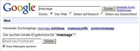 Massage - lokale Suchergebnisse