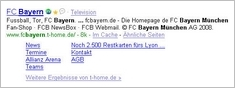 Bayern München Sitelinks