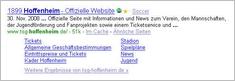 Hoffenheim Sitelinks