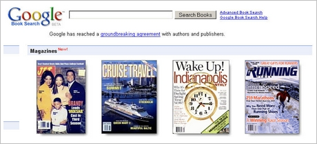 Google Buchsuche mit Magazinen