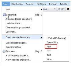 PDF mit Link erzeugen