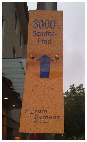3000 Schritte Pfad in Wiesbaden
